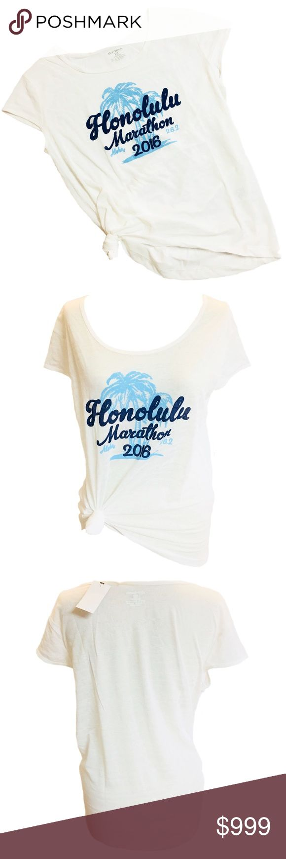 <<New~ Honolulu Sports Running T-Shirt Tee Honolulu Mara-thon Sports Running 2016 Cool Breeze Women's Tee T-shirt Top  CONDITION: New with tags COLOR: Neon Orange  PRODUCT DETAILS:   Layer over a tank top or sports bra for that go to workout look. Great for fitness, working out, Zumba, running, etc..  Lightweight - Great for running & exercise Sheer striped design 100% Polyester 2016 Honolulu Mara-thon Design  #honolulu, Waikiki, Aloha, tropical, Hawaii Tops Tees - Short Sleeve