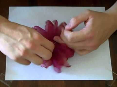 Organza flower tutorial. I'm going to need to get started on these now. I think I will use them as centerpieces