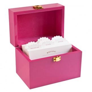 Raspberry Lacquer Recipe Box