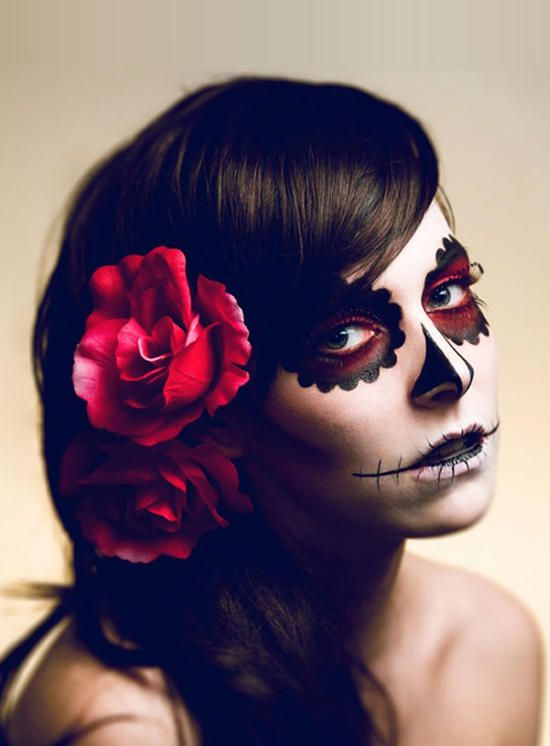 maquiagem halloween candy skull