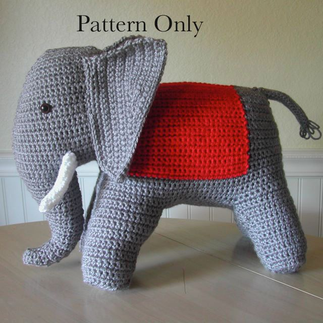 This vintage crochet elephant pattern is a realistic elephant complete with tusks and big ears to play circus with. The blanket on his back is an open canvas for beads or other embellishments. Worked entirely in single crochet as flat pieces and then seamed together, this is a great project as a gift or just to try out retro amigurumi. This listing is for the pattern only, not a finished item. Your pattern pdf will be available for you to download from your Etsy Purchases page as soon as…