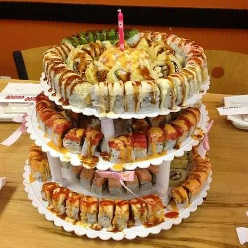 sushi wedding cake recipe 1000 images about sushi cake on birthdays 20660