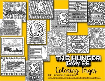 The Hunger Games Coloring Pages Book