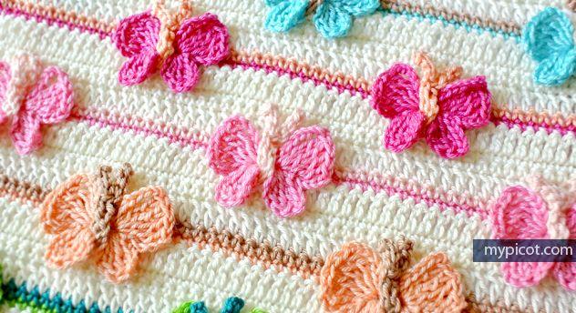 Kelebekli Bebek Battaniyesi Yapılışı 26