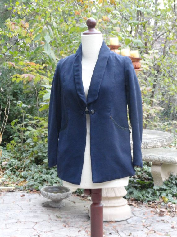 SALE 1910 Youth Edwardian Navy Blue Jacket