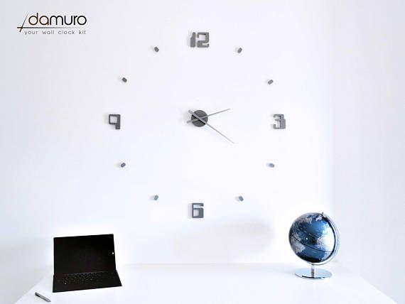Retro PC  damuro your wall clock kit. Grande orologio da