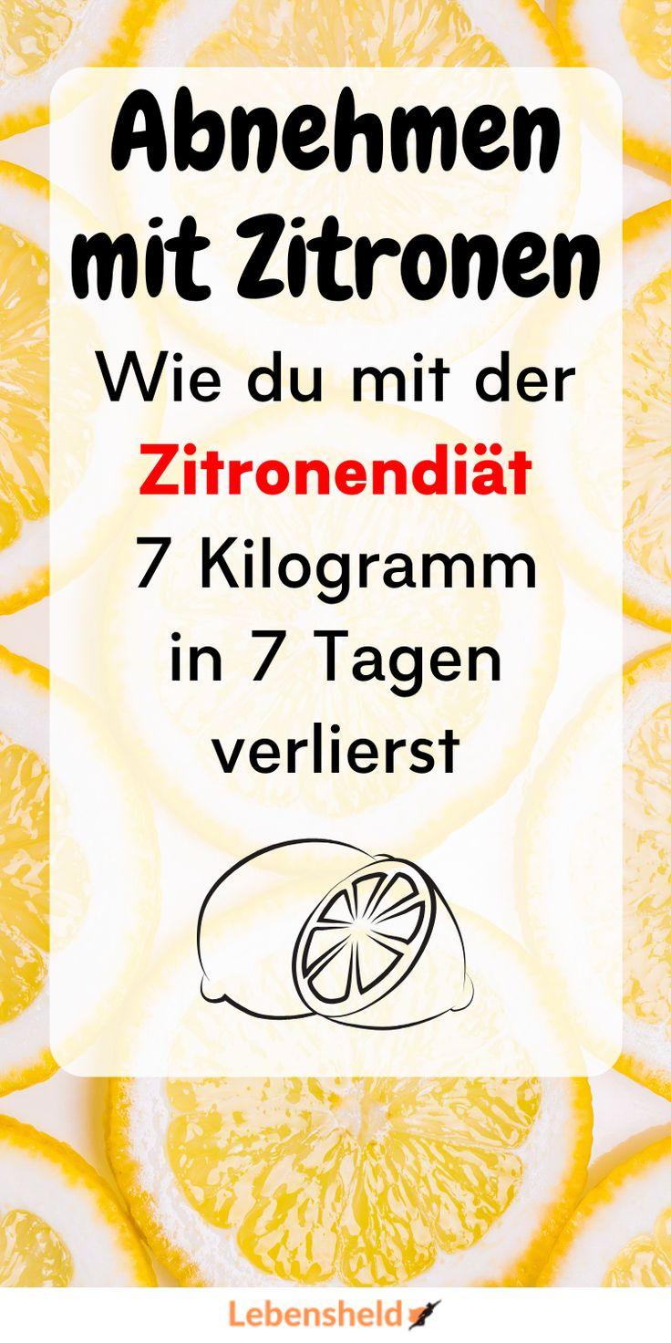 Zitronendiät zum Abnehmen 7 Kilo in 5 Tagen ist