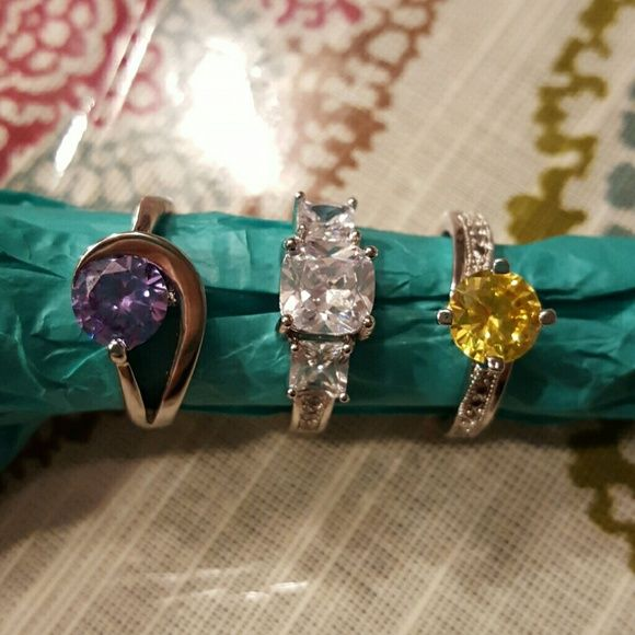Costume Diamond Candle rings Lot of 3 all size 9 costume rings from Diamond Candles. Never worn. Diamond Candles Jewelry Rings