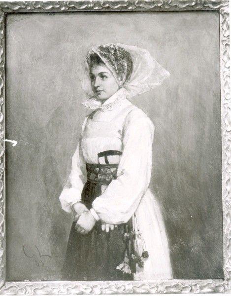 Målning av Carl Larsson. PERSON Fotograf: Nordiska museet, Stockholm PLATS Socken: Österåker 1883