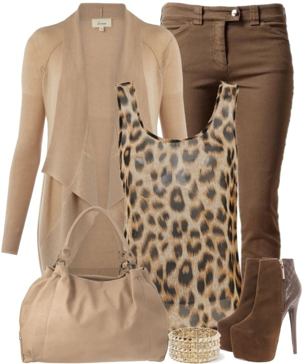 """Animal Print Tank"" by denise-schmeltzer on Polyvore"
