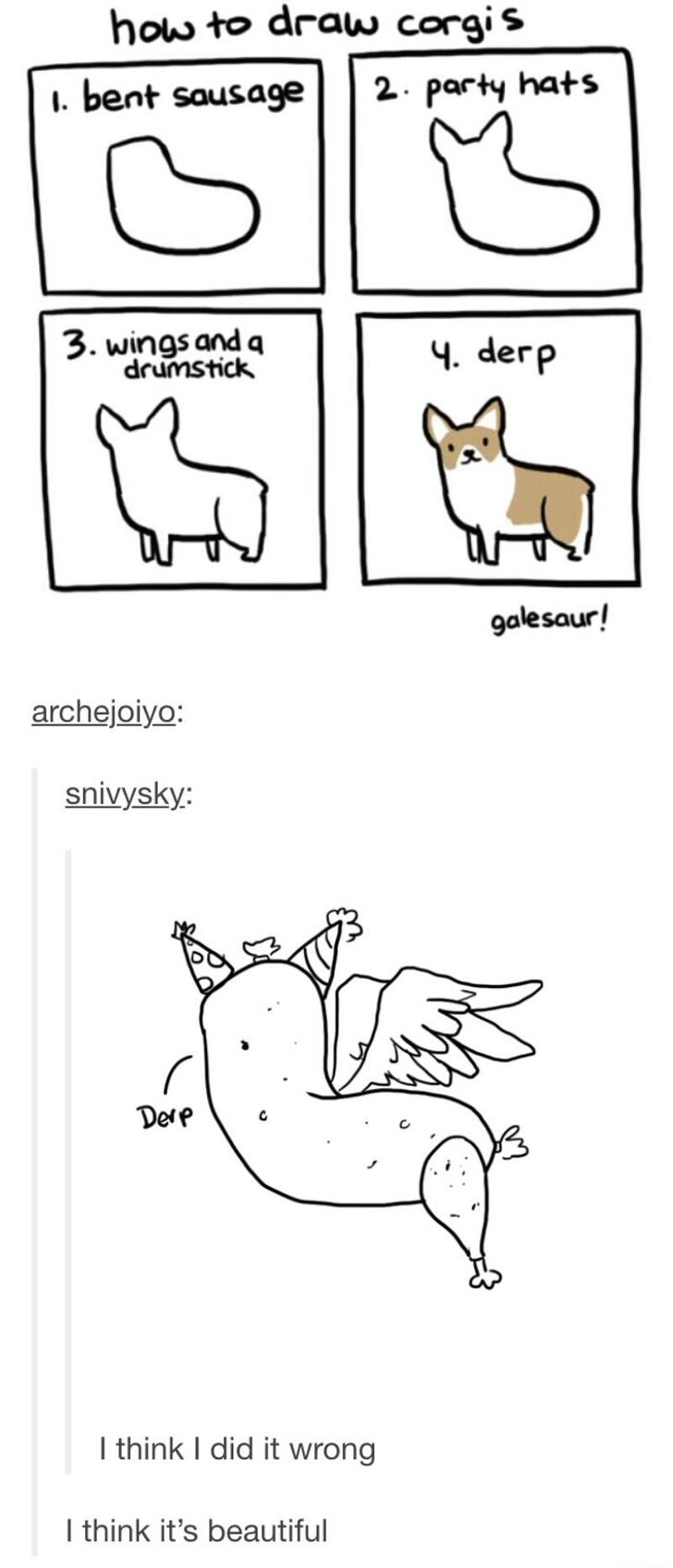 How to draw corgis