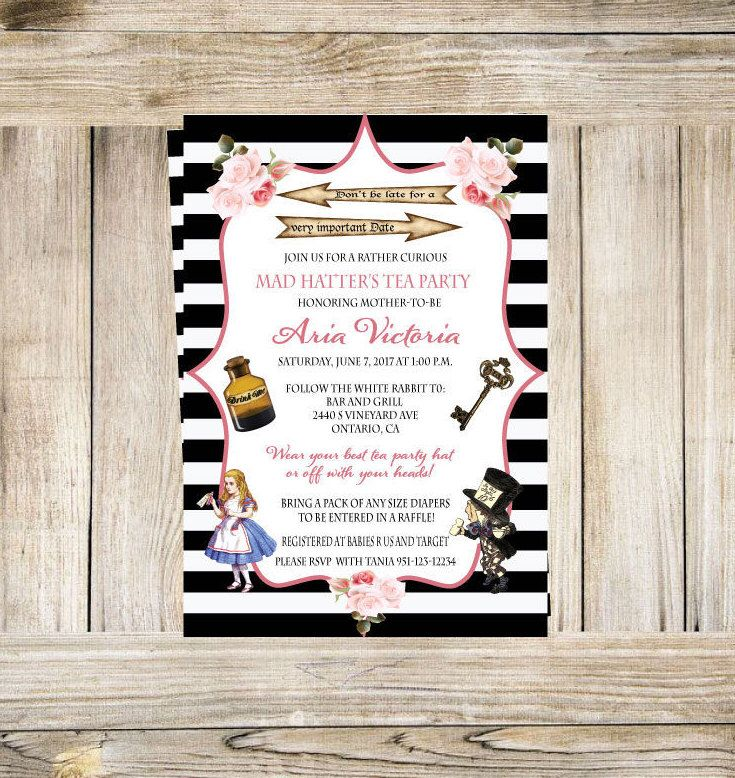The 32 best invitations by the creation boutique images on pinterest excited to share the latest addition to my etsy shop alice in wonderland invite stopboris Gallery
