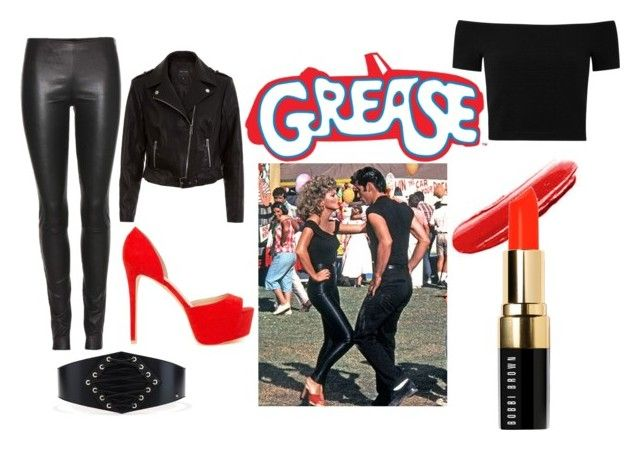 """""""Sandy, Grease outfit"""" by constanza-memeriz ❤ liked on Polyvore featuring The Row, Nly Shoes, Alice + Olivia and Bobbi Brown Cosmetics"""