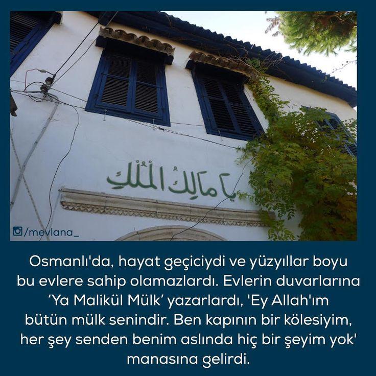 """""""Osmanlı'nın bizleri hayran bıraktığı incelikleri... #Osmanlı #Tarih #Ecdad #Allah #Hû"""