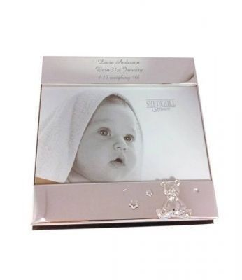 Silver Band Teddy Photo Frame. £19.99 #ChristeningGifts #Christening #PersonalisedChristeningGifts #PersonalisedGifts