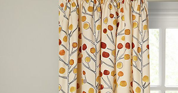 Buy Scion Berry Tree Lined Pencil Pleat Curtains, Orange Online at johnlewis.com | Bedrooms | Pinterest | Pleated curtains, Lounge ideas and Design trends