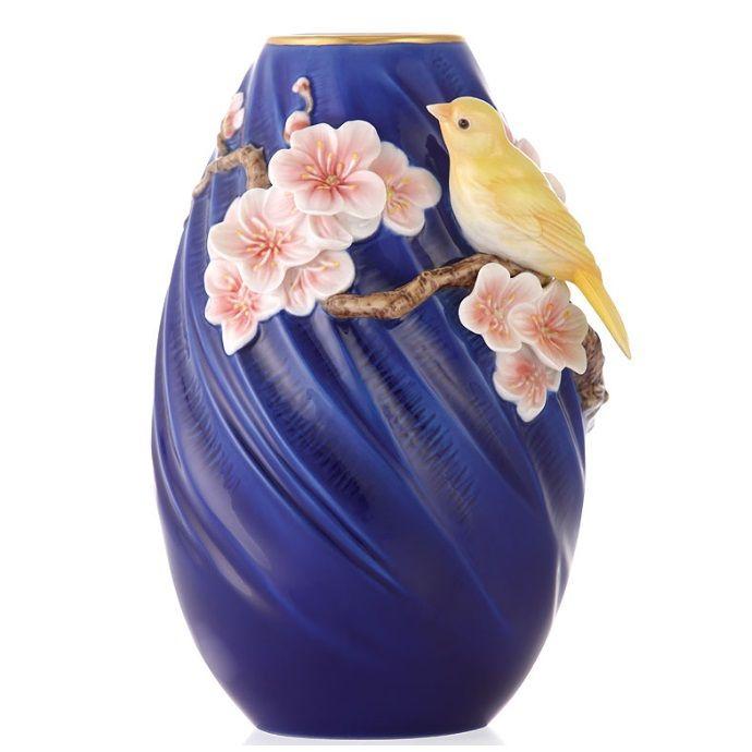 Canary Vase | Sculptured Porcelain | Franz Porcelain