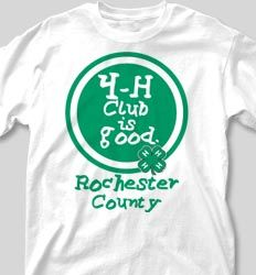 IZA DESIGN custom 4H shirts.  4-H Club  Shirts - Field Day is Good desn-452g4.  Specializing in custom 4-H tshirts since 1987!