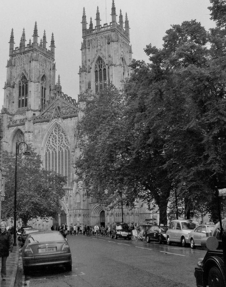 Looking up the street to York Minster