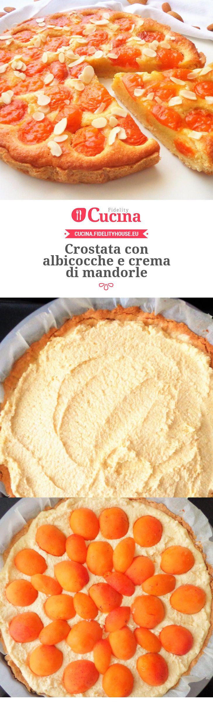 #Crostata con #albicocche e crema di #mandorle della nostra utente Magdalena. Unisciti alla nostra Community ed invia le tue ricette!