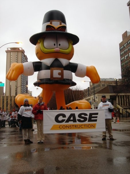 Walked in the Chicago Thanksgiving Parade with CASE Construction!