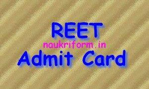 REET Admit Card 2016 Rajasthan REET (Paper I & II) Call Letter