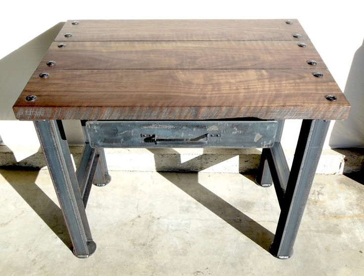 Modern Industrial Furniture vintage industrial desk. modern industrial, rustic, retro, urban