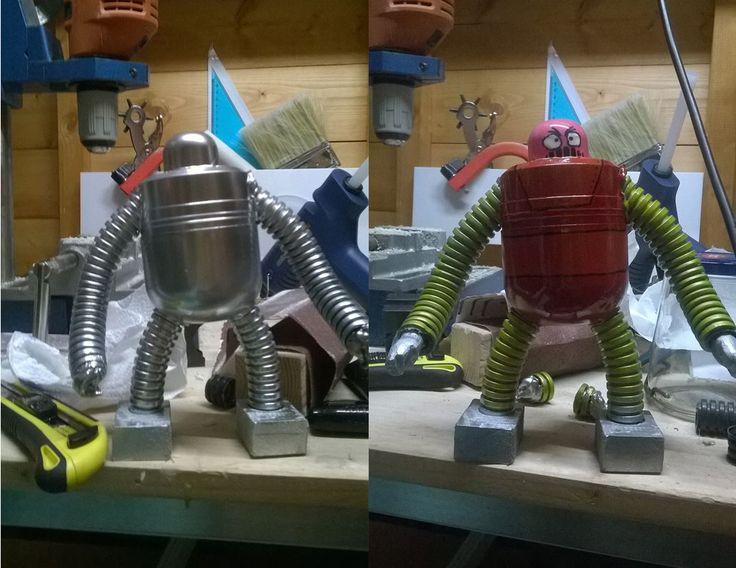 Boss Robot (da Mazinga) realizzato con i gusci delle sorprese pasquali