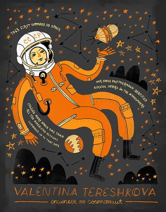 "Rachel Ignotofsky's ""Women In Science"" illustrations celebrate the accomplishments of great women scientists."