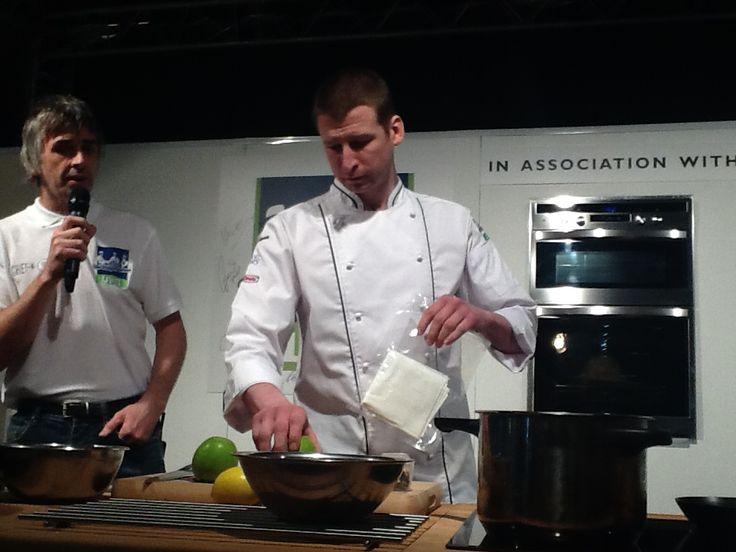 Russell Bateman in our new Prestige Chef's Jacket (CJ1830).