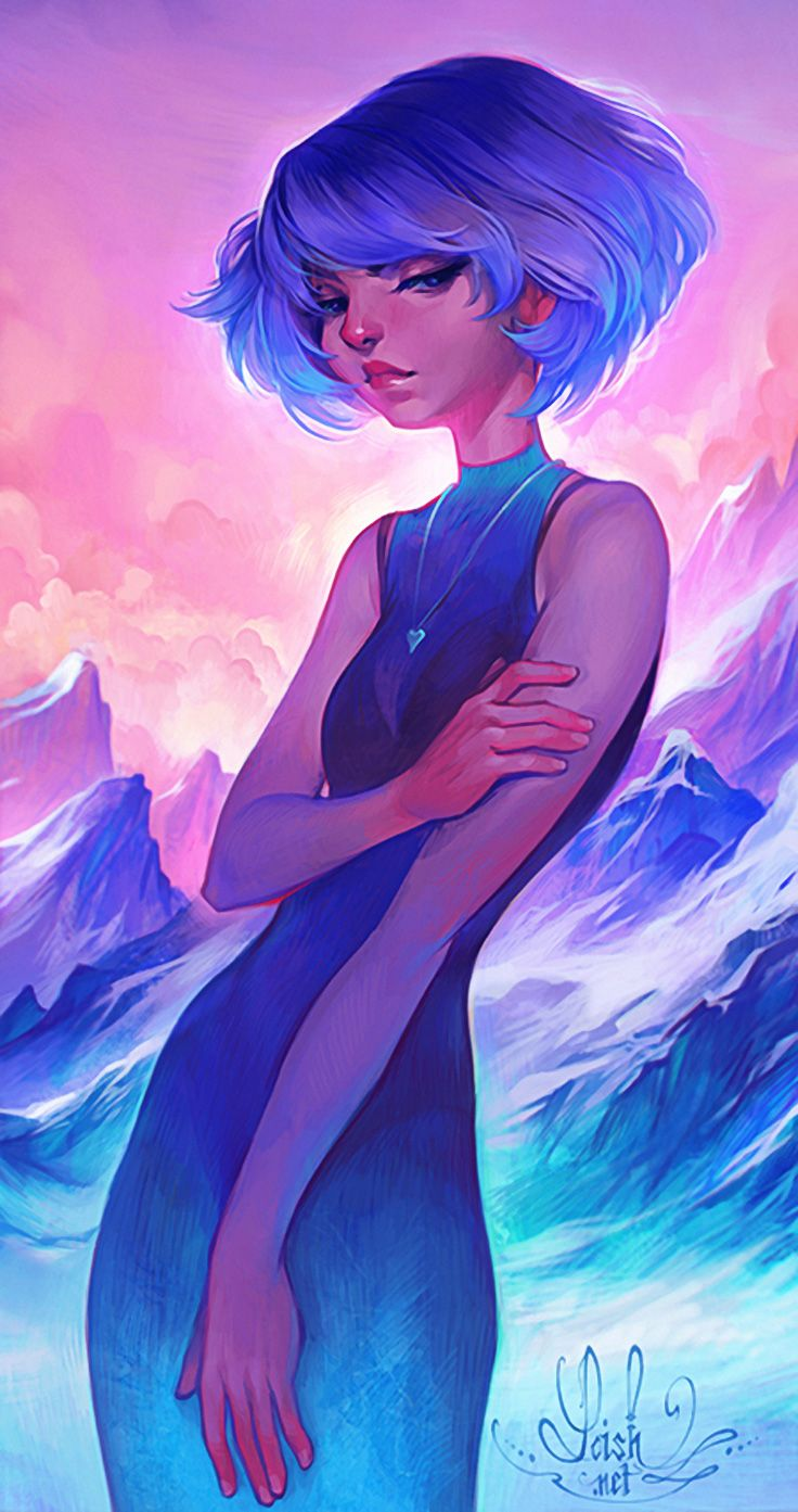 Lois van Baarle {figurative art beautiful blue-hair female ...