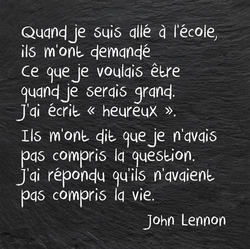 John Lennon....bien!!!une petite chanson?