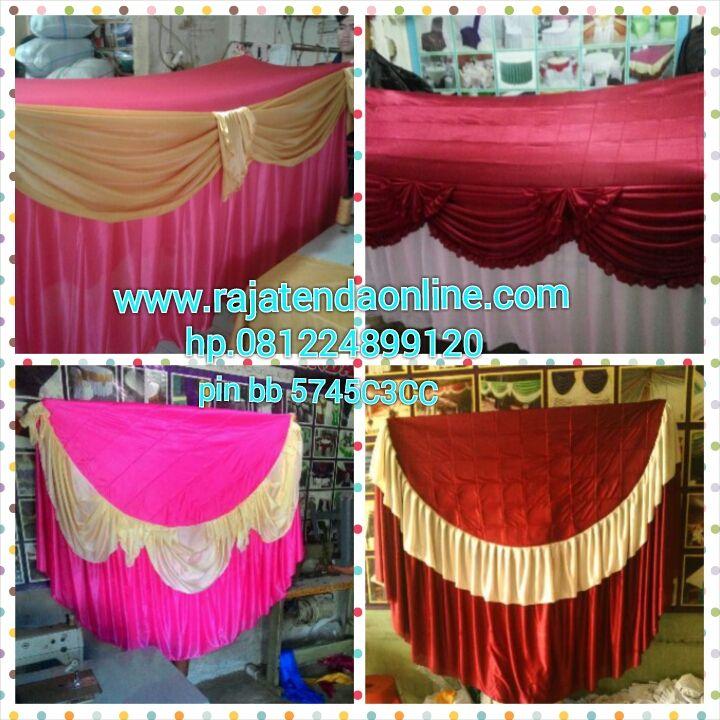 Sarung meja pesta merupakan salah satu produk yang di buat di   tempat kami di gunakan untuk kebutuhan acara pesta maupun   acara2 pe...
