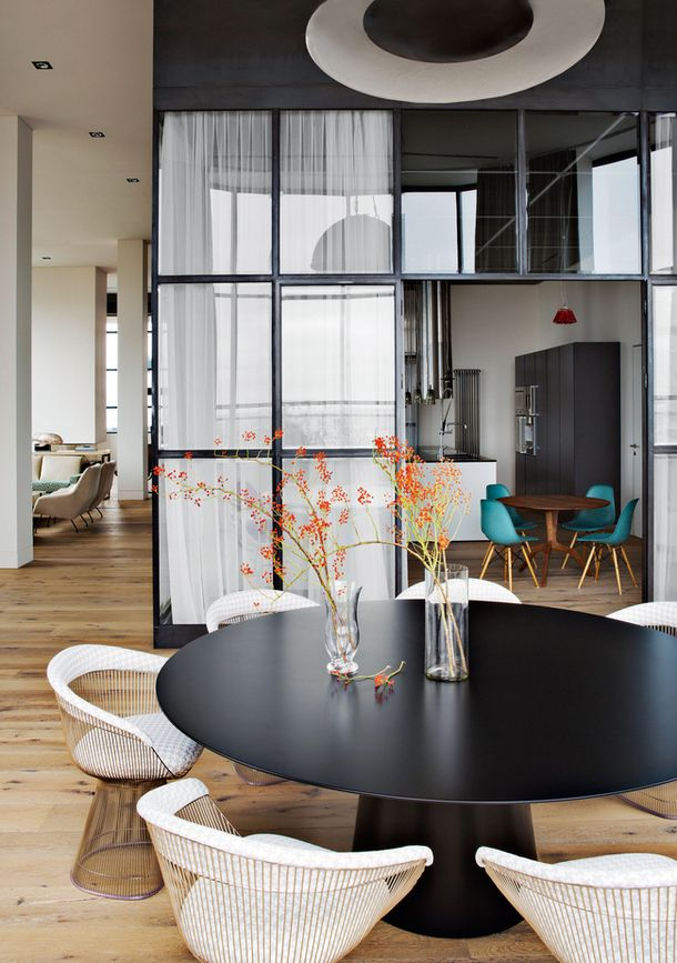 """Penthouse with vintage furniture in moscow The architects of the office """"Tsimaylo, Liashenko and partners"""