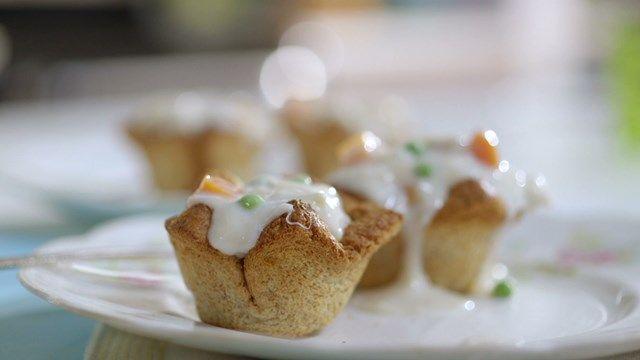 Poulet à la king | Cuisine futée, parents pressés Belle recette de 6 portion version allégée avec les vol au vent fait maison avec du pain 350 cal la portion