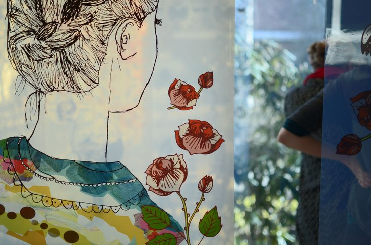 Yritä Nainen! - exhibition by Piirre Collective at Future Design Seminar 2014.