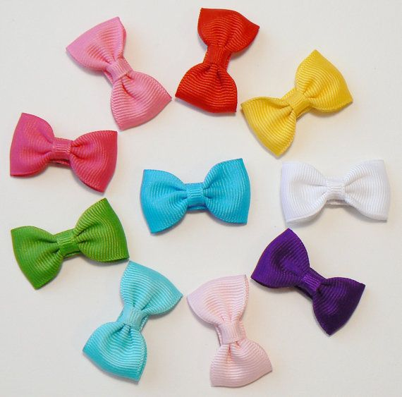 Girls Infant Hair Bow Set Newborn Small Tiny Little Baby Bows Kids Boutique Hair Clip Hairbows (Set of 10) Choose Colors