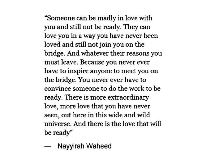 There is love that will be ready