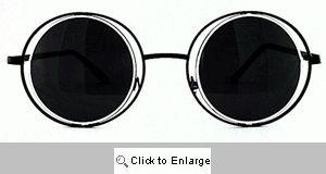 Arcane Round on Round Metal Sunglasses - 223 Black/White