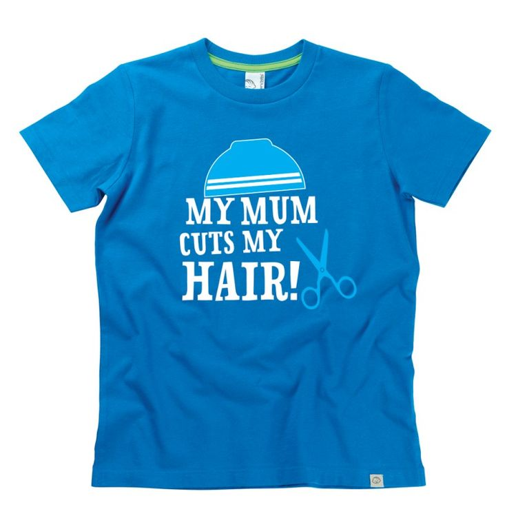 My Mum Cuts My Hair Kids T-Shirt by Hairy Baby