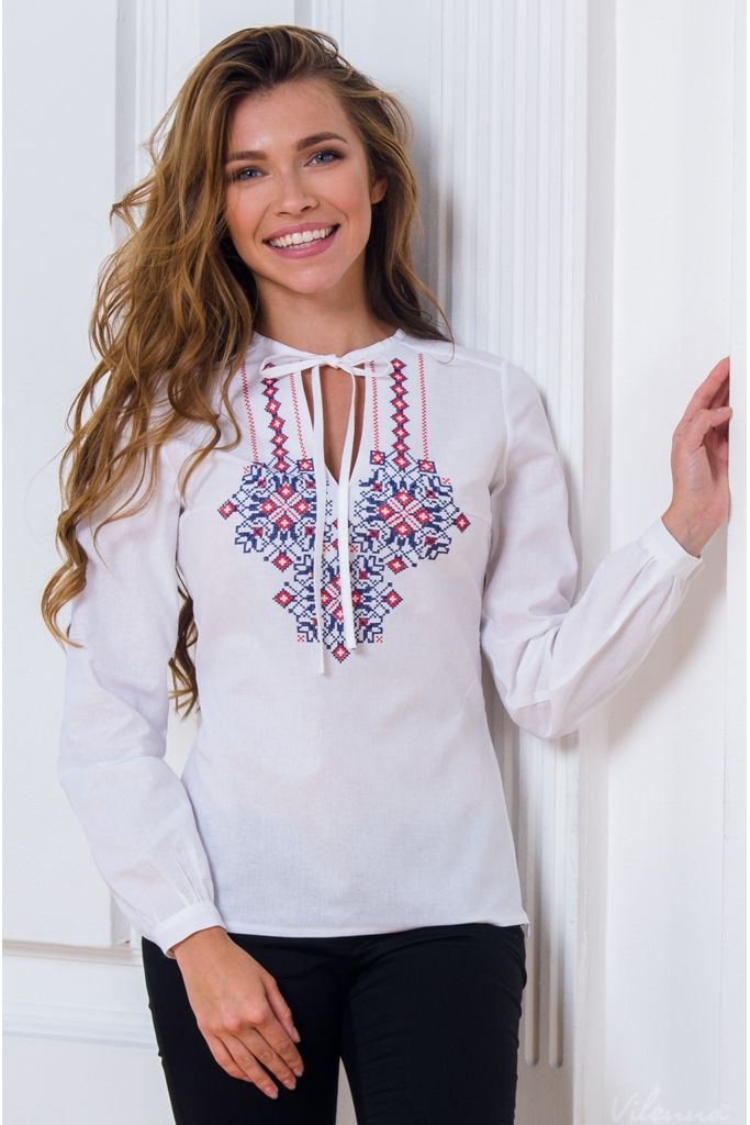 Блуза з вишивкою і пишними рукавами • білий • інтернет магазин • vilenna.ua e98d0dffcac77