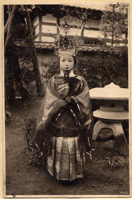 Dressed for a matsuri.  Kofu, Yamanashi, Japan.  About 1920's