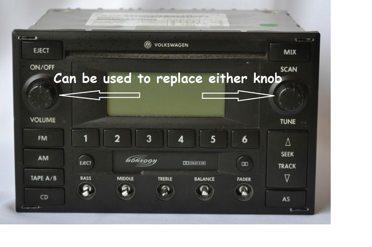AARodriguez Corp. - New Radio Volume Knob for VW MK4 Golf Jetta GTI Passat B5 - Also fits Premium 6 Monsoon Radios, $14.99 (http://www.fixmyvw.com/new-radio-volume-knob-for-vw-mk4-golf-jetta-gti-passat-b5-also-fits-premium-6-monsoon-radios/)