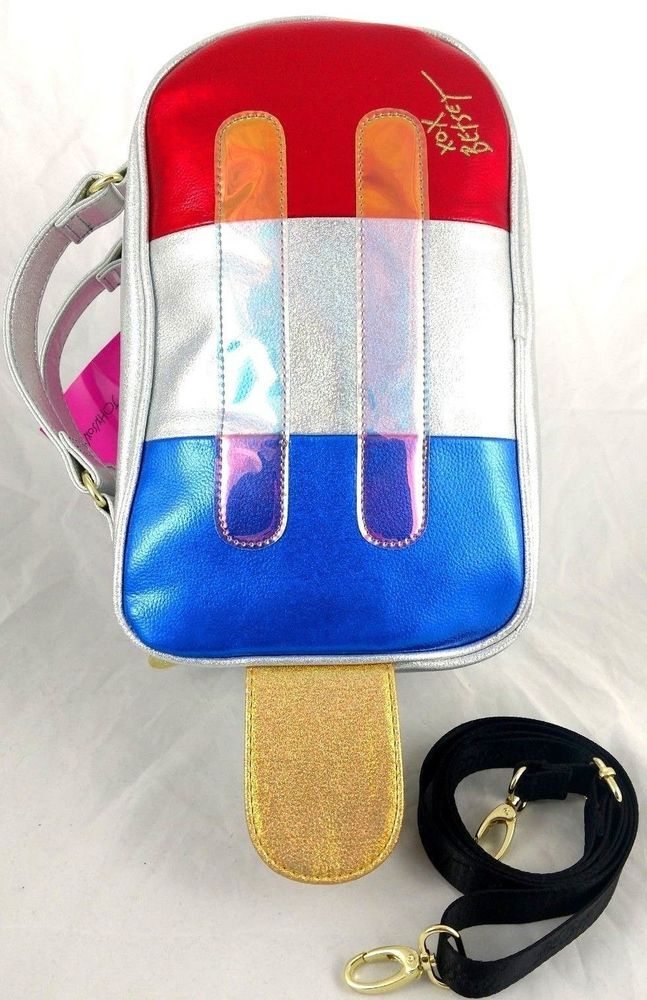 Betsey Johnson Popsicle Lunch Tote Crossbody 4th Of July Cooler Bag Kitsch   BetseyJohnson debcded9a108d