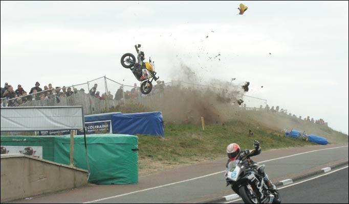 NW200 Guy Martin crash