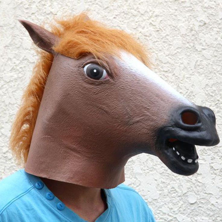 New Halloween Party Horse Latex Mask Animal Mask Realistic Silicone Masks Mascara Halloween Mascaras de latex realista Hot Sale