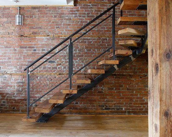 The perfect cantilevered staircase for a loft-style house
