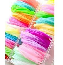 Gomitas de colores para pulseras.