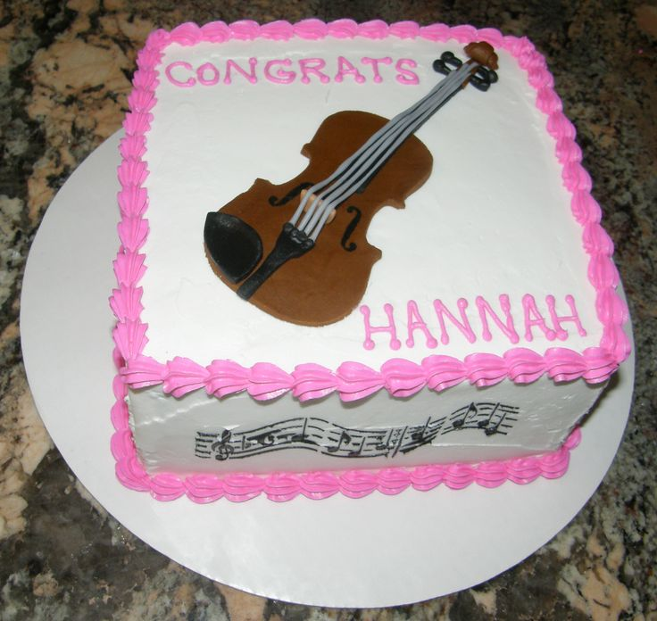 17 best images about cakes on pinterest thomas the tank for Violin decorating ideas