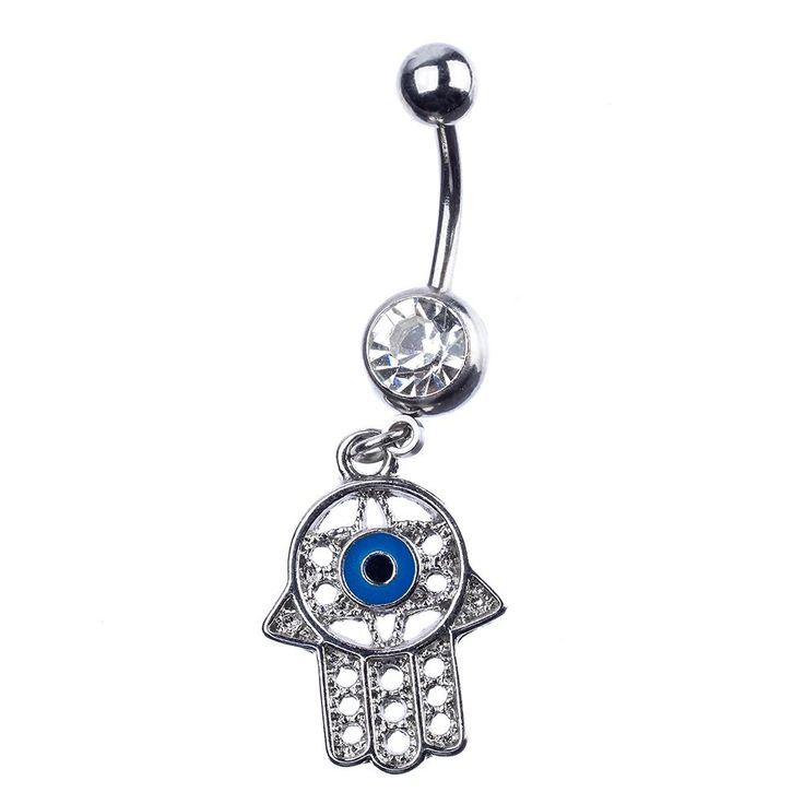14 Gauge Stainless Steel Curved Barbell Body Jewelry with Dreamcatcher for Navel Piercing Gold or Silver Color